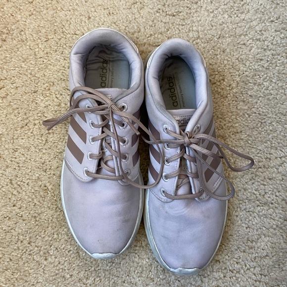 adidas women's rose gold tennis shoes